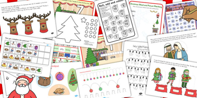 Early Years Christmas Activity and Worksheet Pack - christmas