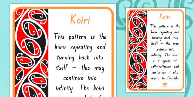 Koiri Pattern A4 Display Poster