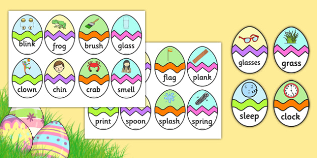 Phase 4 CVC Words Easter Egg Matching Activity - phase 4, phase, cvc, words, cvc words, easter egg, matching, activity, match, easter, egg