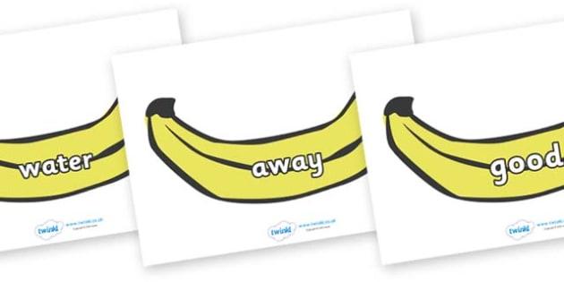 Next 200 Common Words on Bananas - Next 200 Common Words on  - DfES Letters and Sounds, Letters and Sounds, Letters and sounds words, Common words, 200 common words