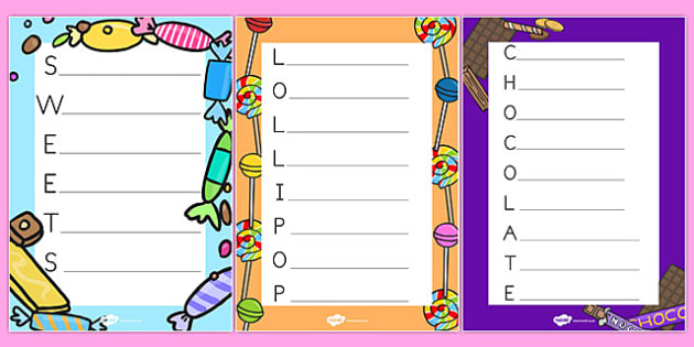 Acrostic Poems to Support Teaching on Charlie and the Chocolate Factory - australia