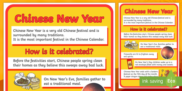 A2 Chinese New Year Large Information Display Poster - display, posters, A4 posters, chinese new year display poster, large chinese new year poster, A2 poster, information poster, information about chinese new year, extra large poster, poster, classr