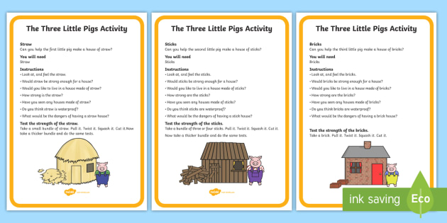 photo about Three Little Pigs Printable identify The A few Small Pigs Material Video game Playing cards - the 3