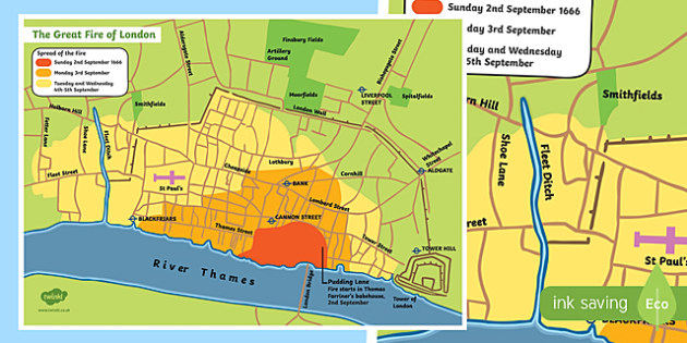 The Great Fire of London Map
