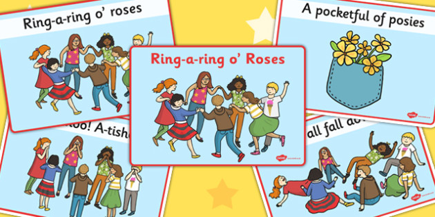 Ring-a-ring O' Roses Sequencing - sequencing, ring, roses, rhyme