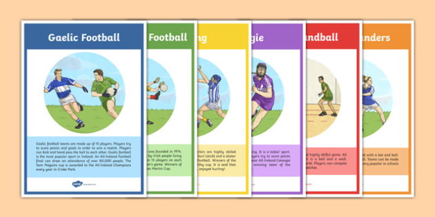 Games of the GAA Info Display Posters - GAA, sport, games, ireland, traditions, display, football, hurling, rounders, handball, camogie, history
