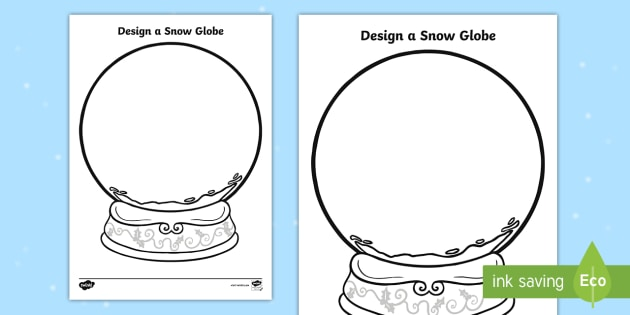 new design a snow globe activity snow globe template