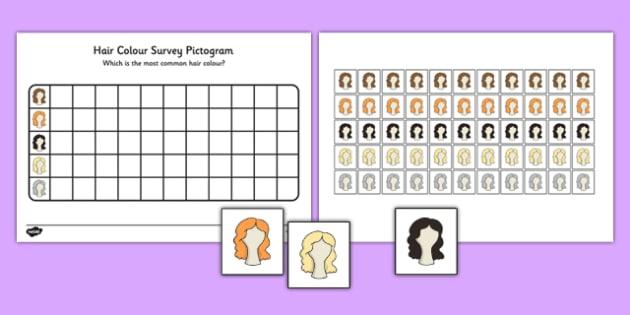 Hair Colour Survey Pictogram - hair colour, survey, pictogram