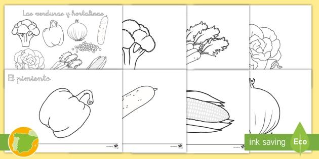 NEW * Posters para colorear: Las verduras y hortalizas