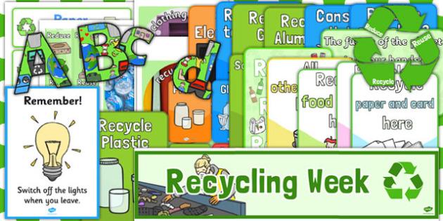 Recycle Week Display Pack - recycle, week, display pack, pack