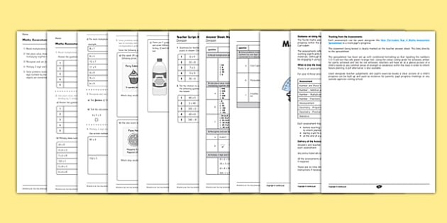 Year 4 Maths Assessment Multiplication and Division Term 1 - assessment