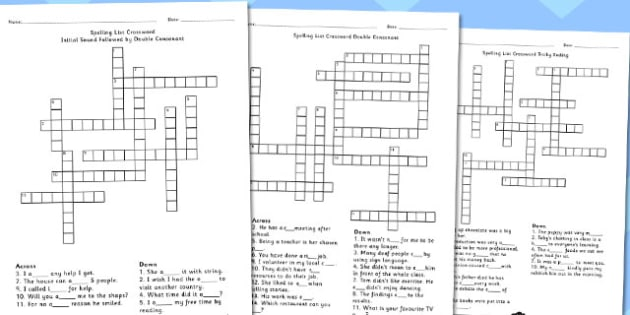 Year 5 6 spelling list crossword pack crossword spelling year 5 6 spelling list crossword pack crossword spelling pack ccuart Images