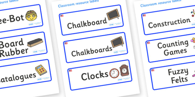 USA Themed Editable Additional Classroom Resource Labels - Themed Label template, Resource Label, Name Labels, Editable Labels, Drawer Labels, KS1 Labels, Foundation Labels, Foundation Stage Labels, Teaching Labels, Resource Labels, Tray Labels, Prin