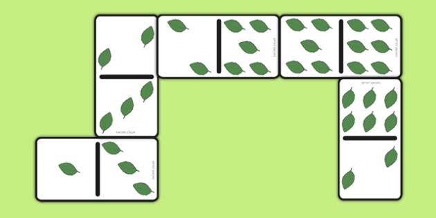 Leaf Dominoes Set - leaf dominoes, set, leaf dominoes, eyfs, early years