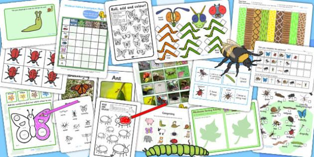 KS1 Minibeast Activity Pack - science, mini beasts, animals, game