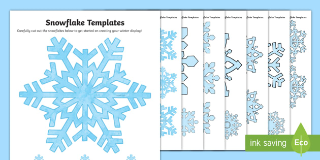 Snowflake Pattern Template  Snowflakes Winter Template Snow
