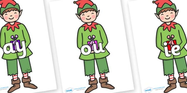 Phase 5 Phonemes on Elf (Plain) - Phonemes, phoneme, Phase 5, Phase five, Foundation, Literacy, Letters and Sounds, DfES, display