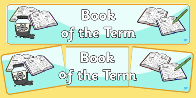 Book of the Term Display Banner - book, term, display banner, display