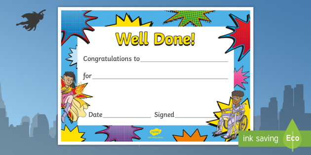 picture about Superhero Certificate Printable named Superhero Certificates - superheroes, certificates, award