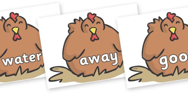 Next 200 Common Words on Chickens - Next 200 Common Words on  - DfES Letters and Sounds, Letters and Sounds, Letters and sounds words, Common words, 200 common words