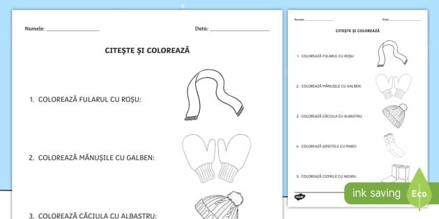 cea mai bună vânzare magazin online poze noi Îmbrăcăminte de iarnă Citește și colorează