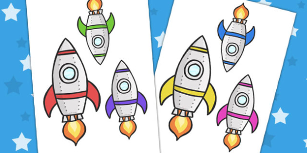 Space Ship Cut Outs - space, ship, cut outs, cutting, cutting out, rocket, space ship, alien, moon, astronaut