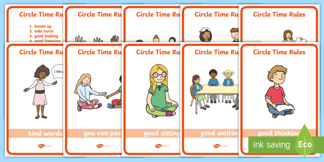 circle time rules display posters circle time rules. Black Bedroom Furniture Sets. Home Design Ideas