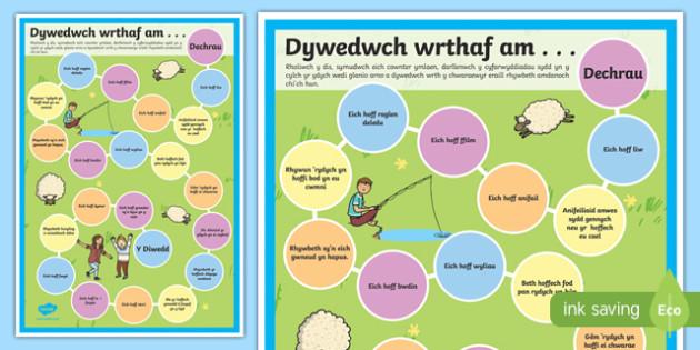 Dywedwch wrthai am - welsh, cymraeg, getting to know, board game