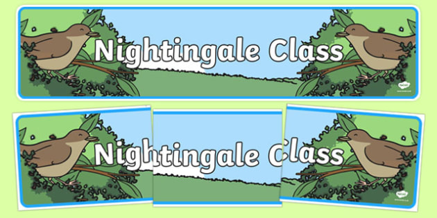Nightingale Themed Classroom Display Banner - Themed banner, banner, display banner, Classroom labels, Area labels, Poster, Display, Areas