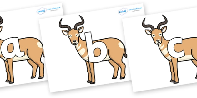 Phoneme Set on Antelopes - Phoneme set, phonemes, phoneme, Letters and Sounds, DfES, display, Phase 1, Phase 2, Phase 3, Phase 5, Foundation, Literacy