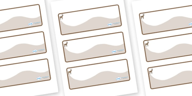 Deer Themed Editable Drawer-Peg-Name Labels (Colourful) - Themed Classroom Label Templates, Resource Labels, Name Labels, Editable Labels, Drawer Labels, Coat Peg Labels, Peg Label, KS1 Labels, Foundation Labels, Foundation Stage Labels, Teaching Lab