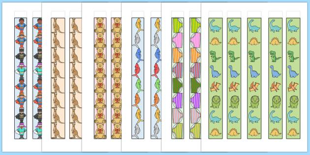 Informal Unit Rulers - measurements, measuring, maths, numeracy