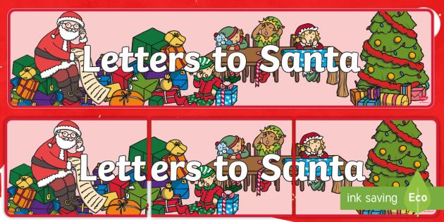 Letter to santa display banner display banner letter santa spiritdancerdesigns Images