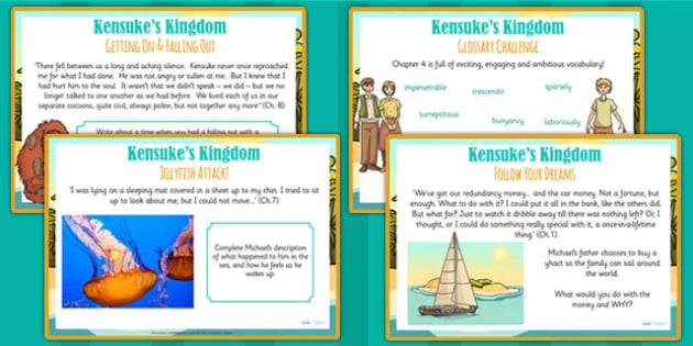 Kensuke's Kingdom Challenge Posters - story book, stories, display