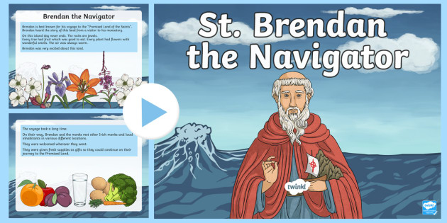 Saint Brendan the Navigator PowerPoint-Irish