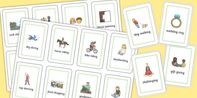 Three Syllable Final 'ng' Sound Flash Cards - final ng, sound, flash cards