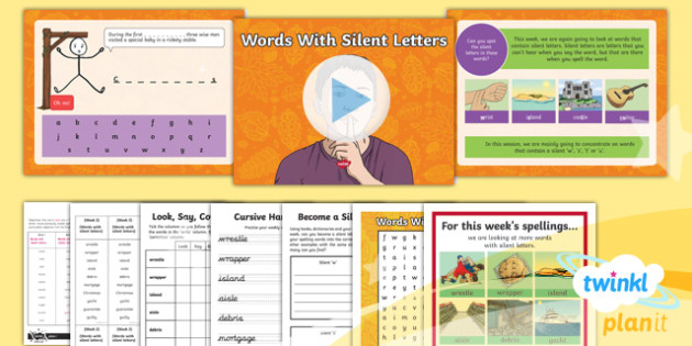 PlanIt Y5 Term 1B W2: Silent Letters Spelling Pack
