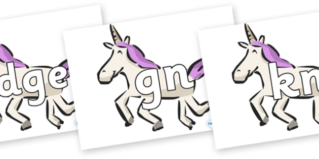 Silent Letters on Unicorns - Silent Letters, silent letter, letter blend, consonant, consonants, digraph, trigraph, A-Z letters, literacy, alphabet, letters, alternative sounds