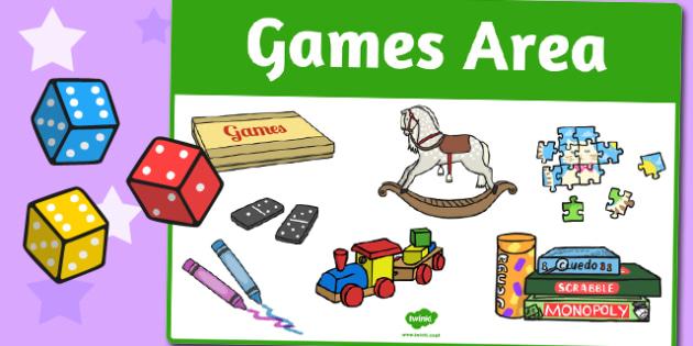Games Area Sign - area, sign, area sign, games, games area