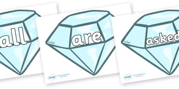 Tricky Words on Diamonds - Tricky words, DfES Letters and Sounds, Letters and sounds, display, words