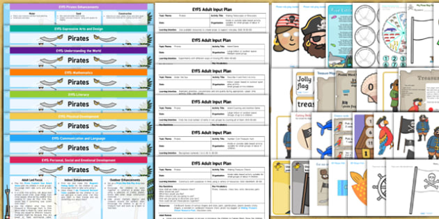 EYFS Pirate Themed Lesson Plan Enhancement Ideas and Resources Pack - planning