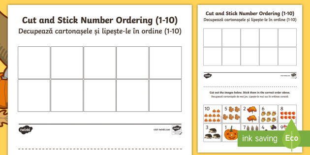 Autumn themed cut and stick number ordering 1 10 worksheet autumn themed cut and stick number ordering 1 10 worksheet activity sheets english ibookread PDF