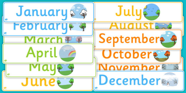 Months of the Year Display Banner Pack - months, year, display, banner, pack