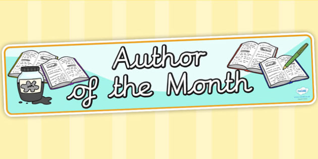 Author of the Month Display Banner - reading, books, read, header