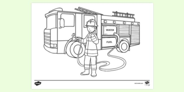 Free Fire Safety Colouring Pages Colouring Sheets
