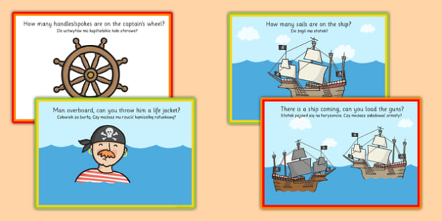 Challenge Cards Pirate Ship Polish Translation - polish, challenge cards, pirate ship, pirates