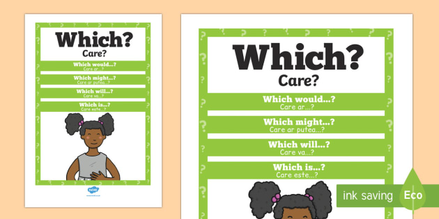 Which? Question Poster English/Romanian
