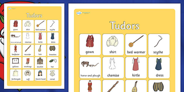 The Tudors Vocabulary Poster - the tudors, display posters, themed posters, images, picture, key words, the tudors vocabulary, vocabulary, vocab, tudor mat