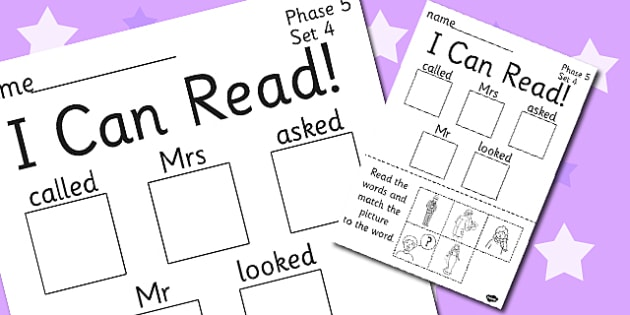 I Can Read Phase 5 Set 4 Words Worksheet / Activity Sheet - phase 5, activity, worksheet