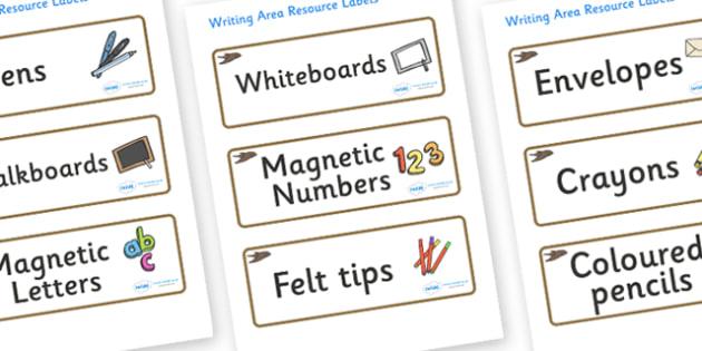Swift Themed Editable Writing Area Resource Labels - Themed writing resource labels, literacy area labels, writing area resources, Label template, Resource Label, Name Labels, Editable Labels, Drawer Labels, KS1 Labels, Foundation Labels, Foundation